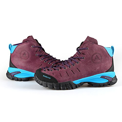 Outdoors HUMTTO Shoes Climbing Men and Walking Women Hiking Purple Boots 6907 FFTOqPpAw