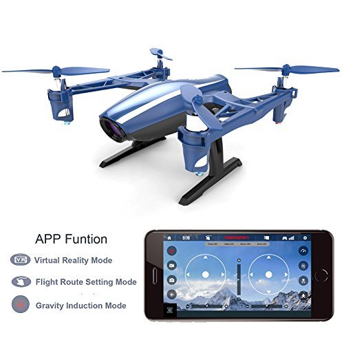 51X4sXxm3NL Cheerwing Peregrine Wifi FPV Drone RC Quadcopter with Wide-angle 720P HD Camera, Altitude Hold and Flight Route Mode, One Key Take Off / Landing, Upgrade Version