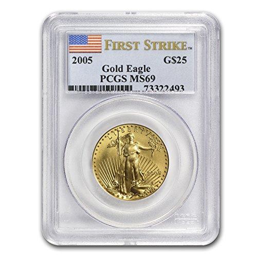 1986 – Present 1/2 oz Gold American Eagle MS-69 PCGS (Random Year) 1/2 OZ MS-69 PCGS
