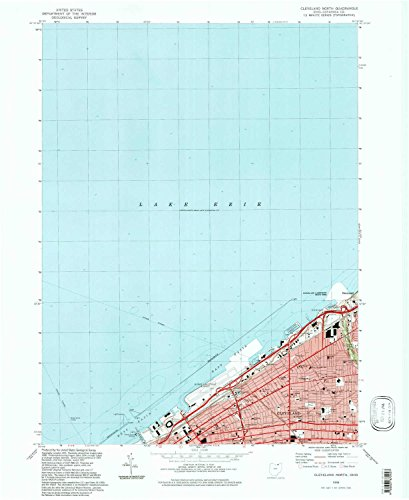 Cleveland North OH topo map, 1:24000 scale, 7.5 X 7.5 Minute, Historical, 1994, updated 1997, 26.9 x 22 IN - - Mall Avenues Map