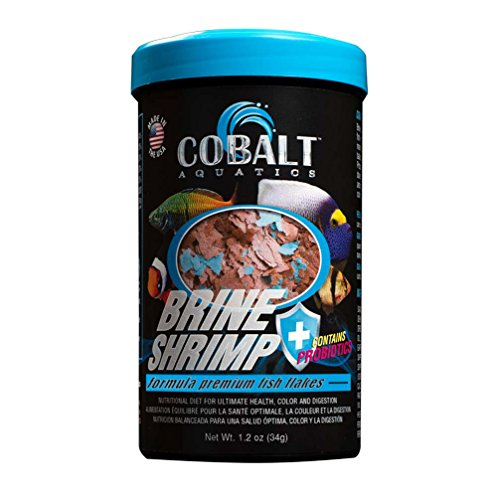 Brine Shrimp Diet - Cobalt Aquatics Brine Shrimp Flake, 1.2 oz
