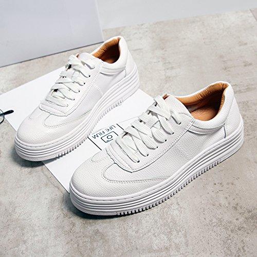 NGRDX&G Weiße Schuhe Frauen Schnürung Freizeit Sportschuhe Lässig
