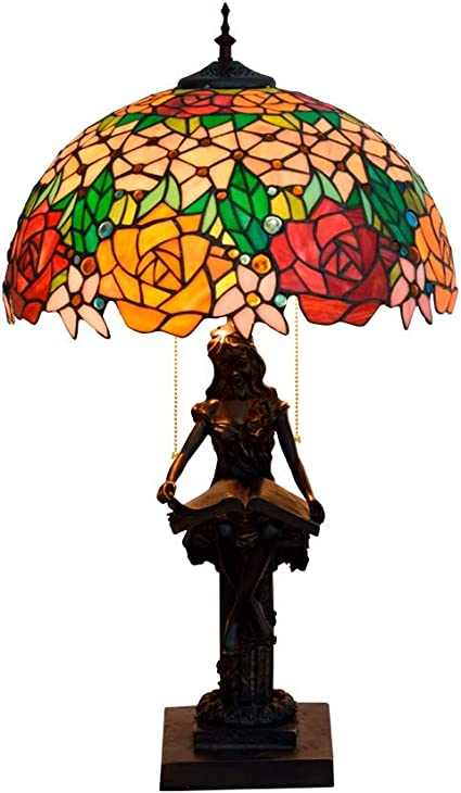 Illuminazione a mano Tiffany Style Splendida Rose Vetrate ...