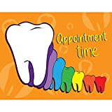 Practicon 512072'' Rainbow Appointment Time Laser Card (50 Cards per Pack, 200 Total)