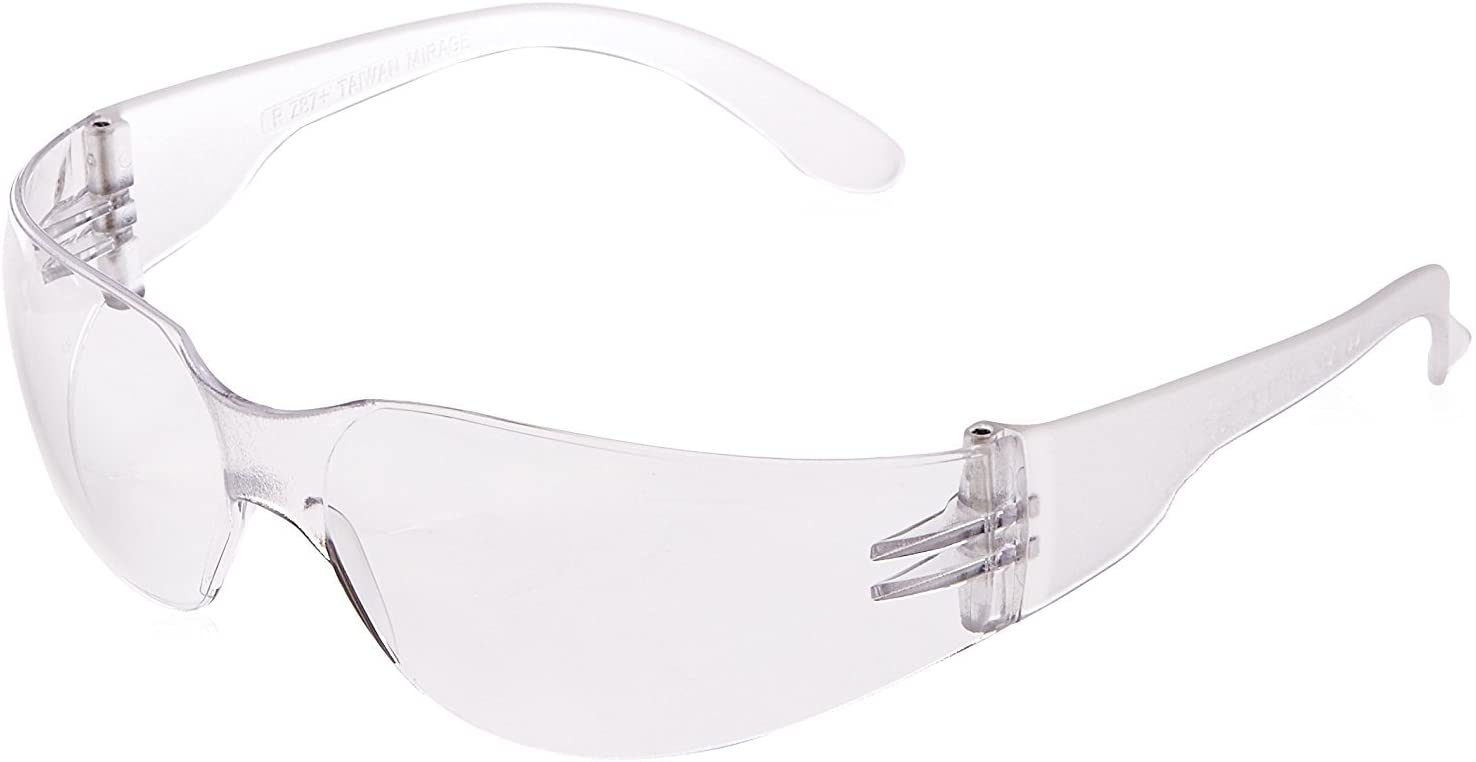 Radians Clear Safety Glasses, Scratch-Resistant, Wraparound, One Size - Safety Glasses -