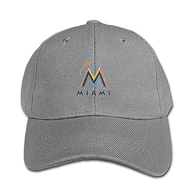 Unisex Baby's Team Miami Marlins Basic Logo Snapback Hats Sports Caps