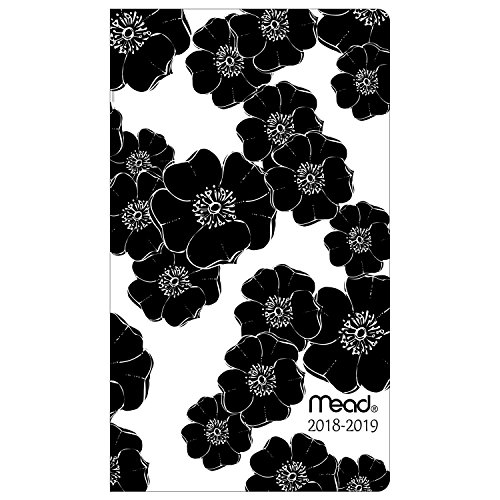"Mead Monthly Pocket Planner, 2 Year, January 2018 - December 2019, 3-1/2"" x 6"", Simplicity, Design Will Vary (TL472010)"