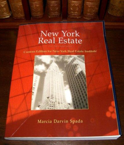 Download New York Real Estate for Salespersons, 2007, Custom Edition for New York Real Estate Institute pdf