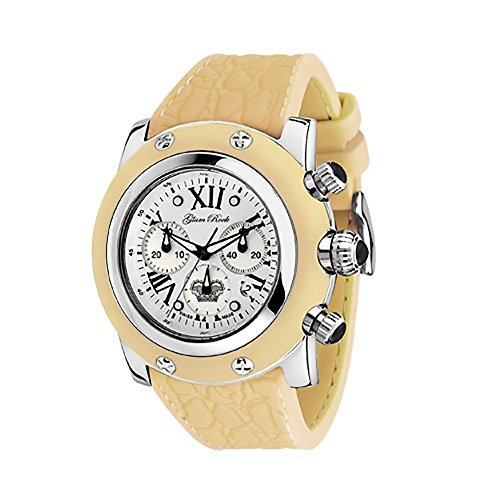 Glam Rock Women's GR30108 Summer Collection Chronograph Yellow Silicone Watch by Glam Rock