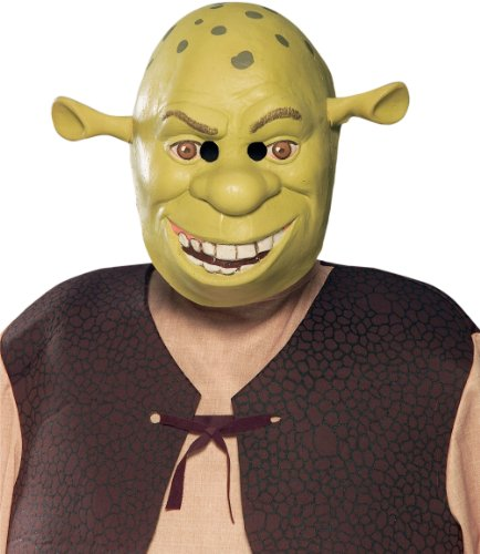 Shrek Costumes Kids Mask (Vinyl 3/4 Shrek Mask Costume Accessory)