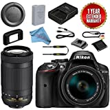 Nikon D5300 DSLR Camera With 18-55mm + 70-300mm AF-P DX VR Lens Bundle (Black)
