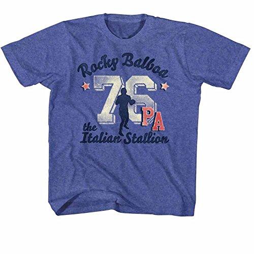 Rocky MGM Movie Balboa 76 PA The Italian Stallion Royal Blue Big Boys Tshirt Tee