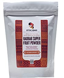 Atacora Fair Trade Baobab Super Fruit Smoothie and Sauce Thickening Powder 30 Day Supply In Travel-Ready Resealable BPA-Free Bag, 11.5 Oz.
