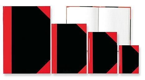 1 Kladde Kladden A5 kariert mit 192 Seiten Notizbuch Buch rot 14,8 x 21,1
