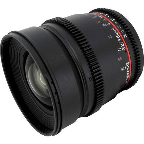 Samyang 16mm T2.2 Wide Angle Cine Lens for Canon EF by Samyang