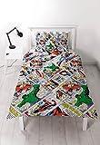 Marvel Comics Retro ''Reversible'' UK Single/ US Twin Duvet Cover with Matching Pillow Case Bedding Set