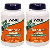 NOW Magnesium Citrate 400 Milligram 120...