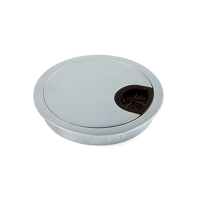 2 opinioni per Emuca 5073164 Passacavi rotondo diametro 80mm da incastrare in scrivania/tavolo