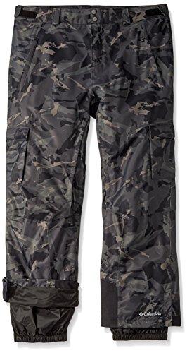 Columbia Men's Big-Tall Ridge 2 Run II Pants, 3X/Regular, Black Camo (Black Snowboard Pants)