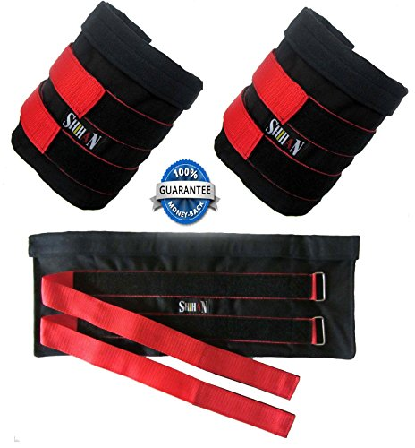 SHIHAN Fitness Ankle Fitness Weights UN-FILLED (10kg) Capacity when Filled ,Exercise Fitness Gym Resistance Strength Training Running, Physio,Crossfit,Boxing Training by Shihan