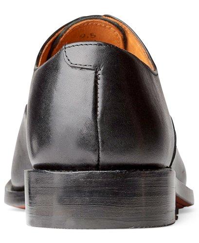 Anthony Veer Heren Clinton Cap-toe Oxford Volnerf Lederen Schoen In Goodyear Welted Constructie Zwart