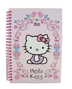 Hello Kitty Sannio - Cuaderno de anillas A5, rosa