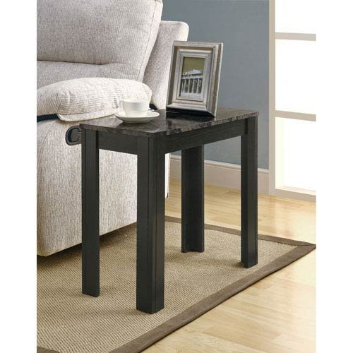 Marble Contemporary Lighting (Hawthorne Ave Accent Table - Black / Grey Marble)