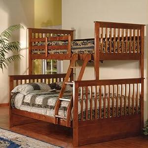 K & B Furniture Twin Over Full Bunk Bed - Esprit Walnut
