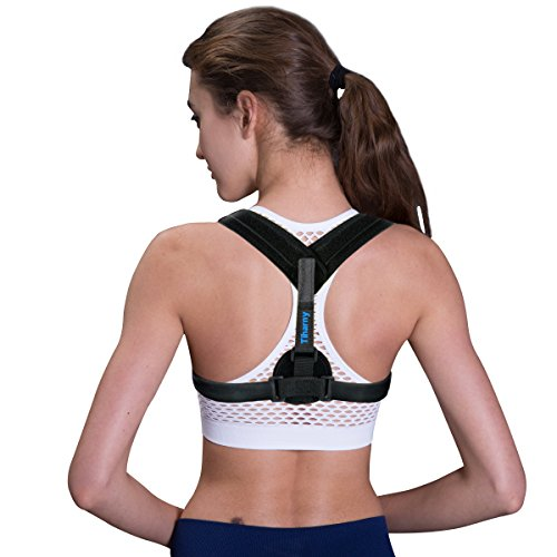 Posture Corrector Spinal Support – Physical Therapy Posture Brace for Men or Women – Back, Shoulder, and Neck Pain Relief – Posture Trainer