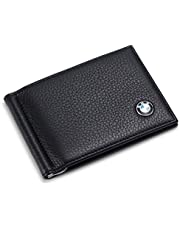 Tuoco BMW Bifold Money Clip Wallet with 6 Credit Card Slots - Genuine Leather