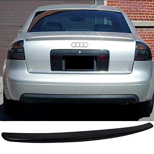 Trunk Spoiler Fits 1998-2004 Audi A6 C5 | A Style ABS Rear Tail Lip Deck Boot Wing By IKON MOTORSPORTS | 1999 2000 2001 2002 2003