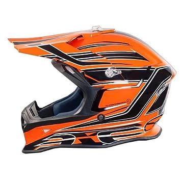 Casco Moto Cross Enduro One Racing Tiger arancio-nero New 2015 Extra Small
