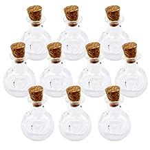 10Pcs Mini Glass Cork Bottle XO Winebottle Jars Vials Wish Bottle Love Note