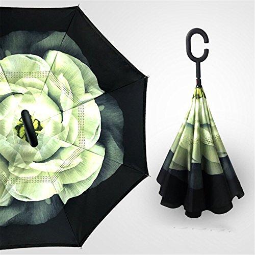 Miki Da Inverted Umbrella Double Layer sun parasol Women Rain Reverse Umbrellas male guarda chuva invertido paraguas parapluie Windproof - Egift Vouchers