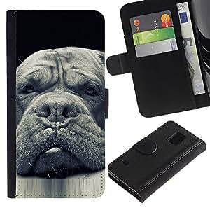 Stuss Case / Funda Carcasa PU de Cuero - Plott Newfoundland Dog Black - Samsung Galaxy S5 V SM-G900