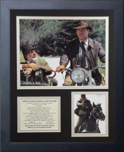 """Legenden Sterben Nie gerahmtes Foto Collage, 11 x 35,6 cm """"Indiana Jones Der letzte Kreuzzug von Legends Never Die"""