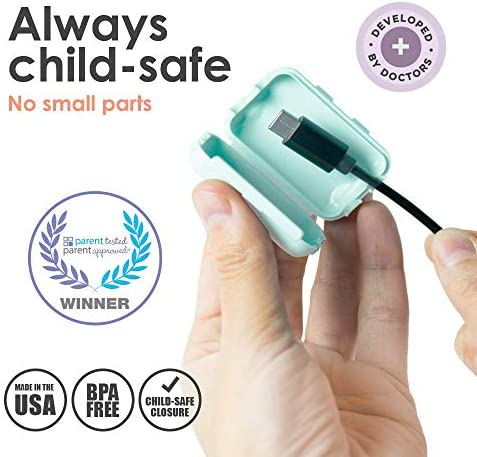 51X4yoj9X0L. AC Geddy's Mom, Watch Your Mouth, Child-Safe USB Charger Safety Cover, Baby Proofing Power Outlet Cover, Toddler Safety Device, Electrical Protector (3 Pack, Dusty Aqua)    Product Description