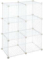 AmazonBasics 6 Cube Wire Storage Shelves...