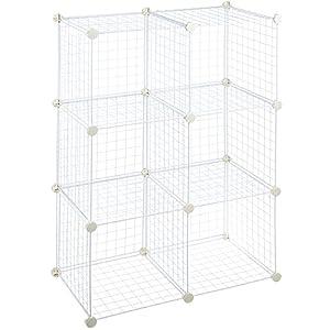6-Cube-Grid-Wire-Storage-Shelves-White