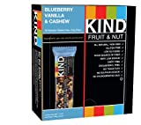 KIND Bars, Blueberry Vanilla & Cashew, Gluten Free, Low Sugar, 1.4oz, 12 Count
