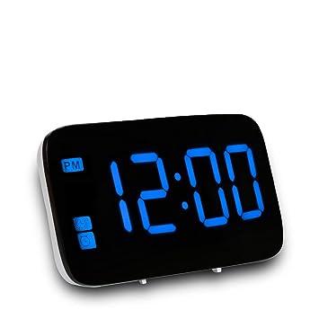 PINUMI LED Digital Reloj Despertador, Relojes de Noche con Snooze, Función de Control de