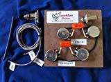 Gibson | Epiphone Les Paul Deluxe Prewired 50s Wiring Harness Short Shaft Pots | .022uf Orange Drop Caps with 3 Way Switch Harness