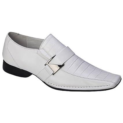 769cf934b02 Amazon.com  Blancho Men A-181-WH Stylish Bridal Shoes Leather Shoes ...