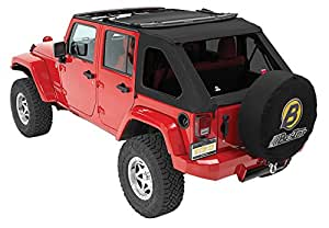 Bestop 56923-17 Black Twill TrekTop NX Complete Fameless Replacement Soft Top with Sunrider Sunroof Feature