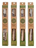 Plant-based Bamboo Toothbrush Adult Size (Pack of 4)