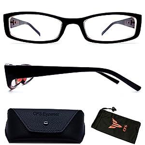 (#NS-201ST) Myopia Nearsighted Men Women Short-Sighted Distance Shape Black Frame Driving Glasses Eyeglasses