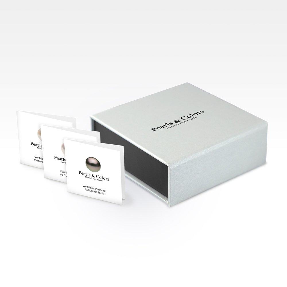 Pendentif Femme 9 carats Or jaune V/éritables Perles deau douce AM18-9CPC-097-1P7J-LVE Pearls /& Colors