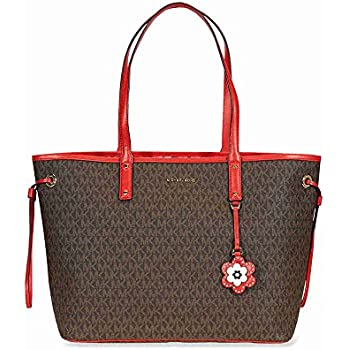 60dfed34537f Michael Michael Kors Carter Canvas Large Reversible Tote Handbag in Brown  Begonia