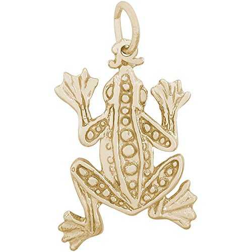 Rembrandt Charms Frog Charm, 10K Yellow Gold