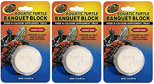 (3 Pack) Zoo Med Aquatic Turtle Banquet Block (Giant) ()